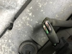damaged fule injector wiring