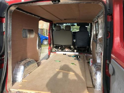 Ply lining the camper van interior