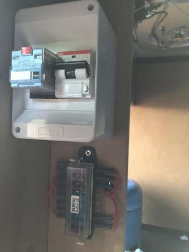 The mains consumer unit with relay installed